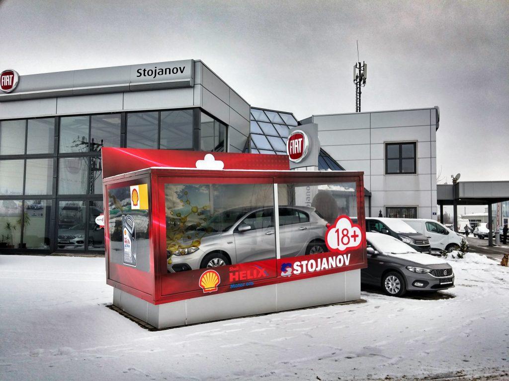 Shell i Fiat igračka za veliku decu kapsula